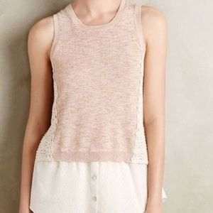 Anthropologie Moth Montage Layered Top